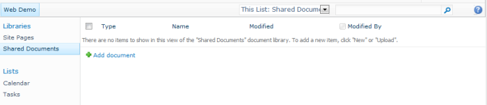 Standard Document Library